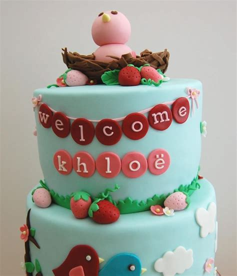 Bird Baby Shower by Berry Bird Baby Shower Cake Cakecentral