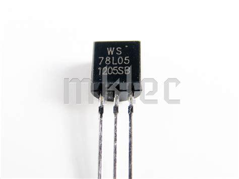 transistor voltage regulator 78l05 5v 100ma dc voltage regulator