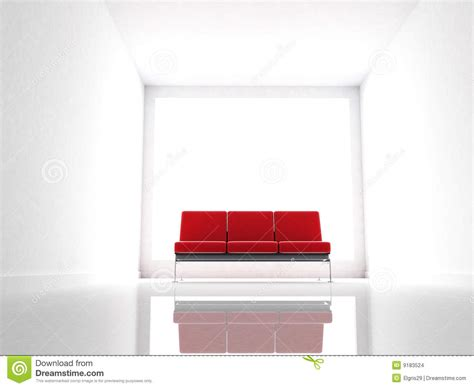 red and white couch red couch on a modern and white room stock images image