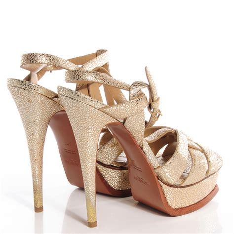 St Yves Metallic Y Sandal Gold yves laurent metallic leather tribute 105 platform sandals gold 40 75266