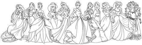 All Disney Princesses Coloring Pages coloring pages for 13 and up only coloring pages