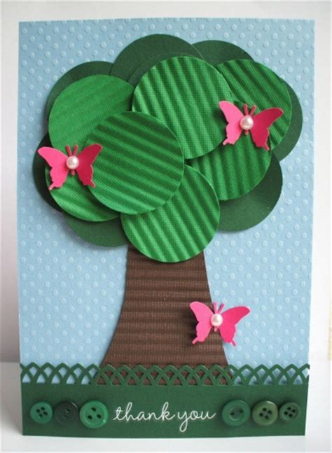 make a card using cardstock crimper and punches think