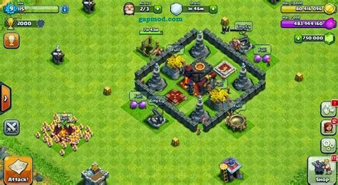 download game coc mod v7 65 5 clash of clans v7 65 5 mod apk unlimited gems gold and