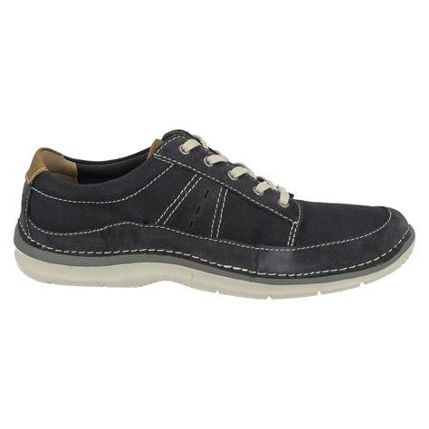 mens clarks casual canvas shoes ripton plain ebay