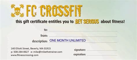 fitness gift certificate template fitness crossing tis the season to give the gift of