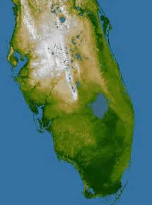florida relief map elevation of southern florida image of the day