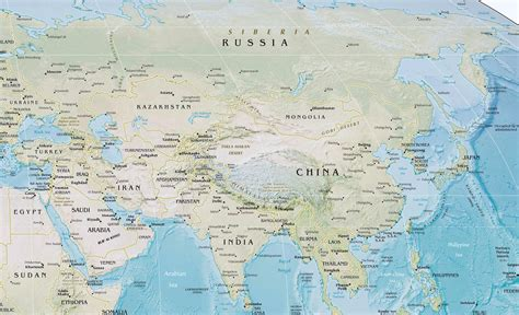 big map of asia maps of asia and asia countries political maps