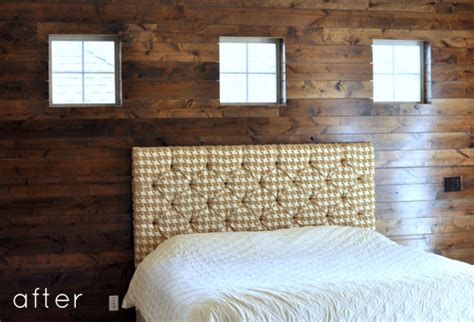 wood panel accent wall before after wood paneled accent wall design sponge