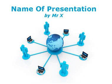 Human Computers Network Powerpoint Template Computer Network Ppt Templates Free