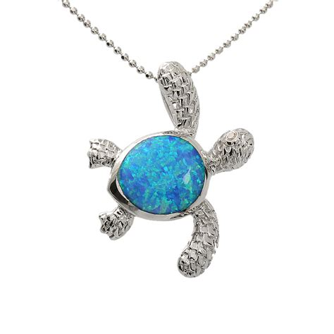 hawaiian jewelry opal h right l turtle pendant makani