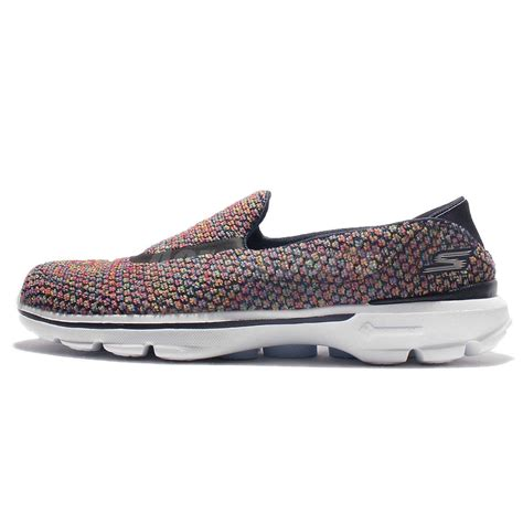 Sepatu Skechers Go Walk 3 Navy Slip On Premium Import Size 37 41 skechers go walk 3 paradise navy multi color womens casual