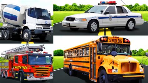transport vehicles learning cars for transportation sounds