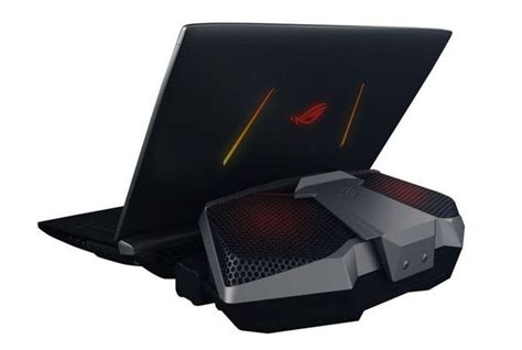 new asus gx800 water cooled gaming laptop packs two gpus and two power supplies