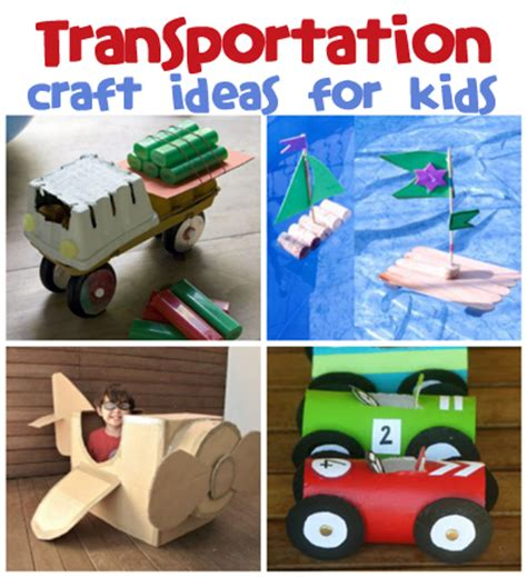 a to z of transportation themed crafts and transportation craft ideas family crafts