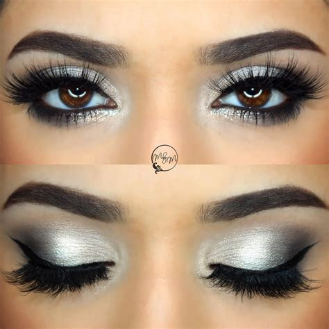 Eyeshadow Silver subtle glitter for nye silver grey smokey eye