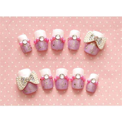 Handmade Nail - handmade nail bow nail sweet egl nail