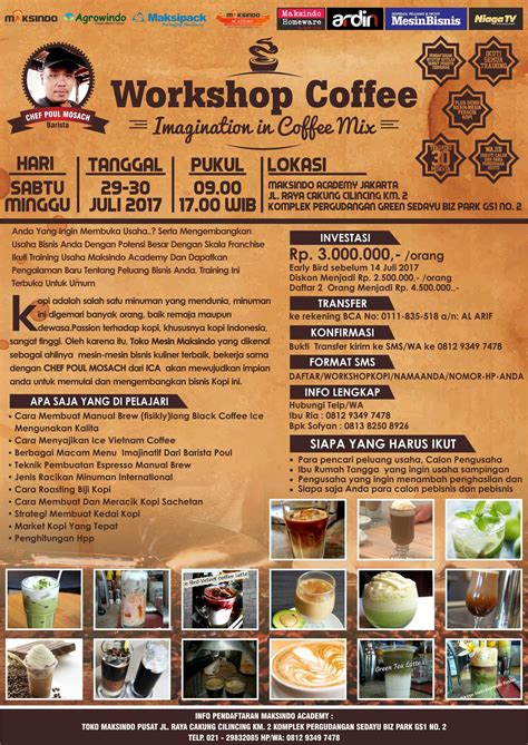 workshop coffee   juli  training usaha