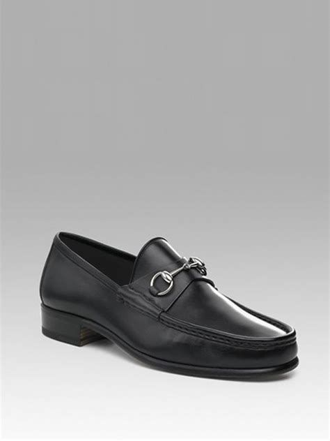 gucci bit loafers gucci leather bit loafers in black for lyst