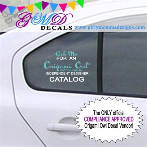 Origami Owl Car Decal - origami owl car decal catalogs on board custom decal