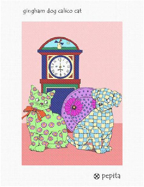 Goin Gingham Pet Pet Pet Product 2 by Needlepoint Canvas Gingham Calico Cat
