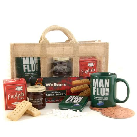 get well gift for him man flu mug and sweets