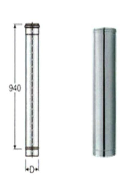 tubo camino acciaio tubo acciaio inox 304 stufa canna fumaria camino cm 20 mm