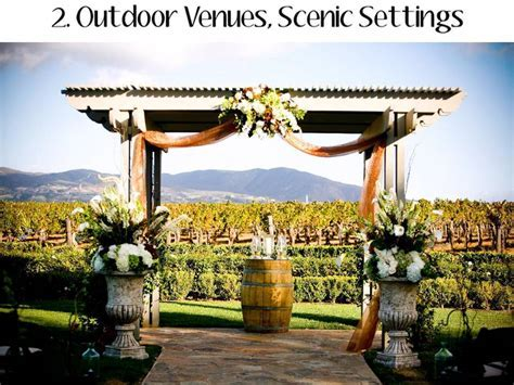 Outdoor wedding venues continue to gain popularity among