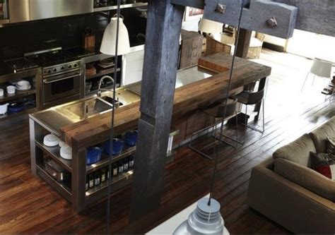 industrial style kitchen islands industrial kitchens viking woodworking