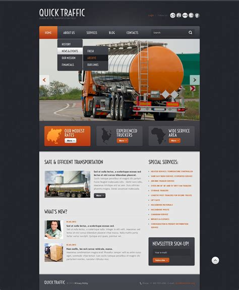 joomla template transportation joomla template 43616