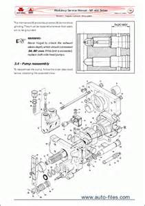 massey ferguson tractors 400 series repair manuals wiring diagram electronic parts