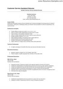 customer service skills for resume resume template exle
