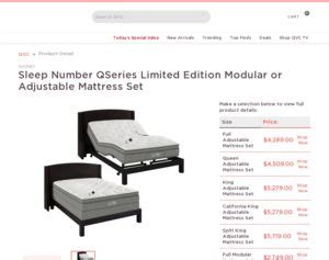 Sleep Number Signature Series Adjustable Bed Set Qvc Sleep Number Qseries Limited Edition Modular Or