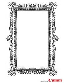 free printable picture frame templates craft templates for picture frame 3