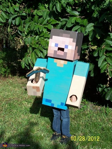 diy steve minecraft costume diy cardboard box costumes wholesale costumes
