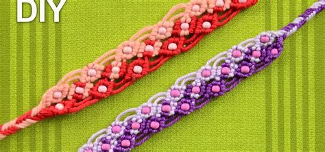 Two Color Macrame Bracelet with Beads   Tutorial « Jewelry