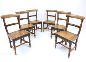 Set Of 6 Dining Chairs Set Of 6 Ash Dining Chairs Antiques Atlas