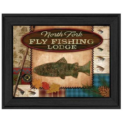 fly fishing home decor mol926a 405 quot fly fishing lodge quot trendy decor 4 u