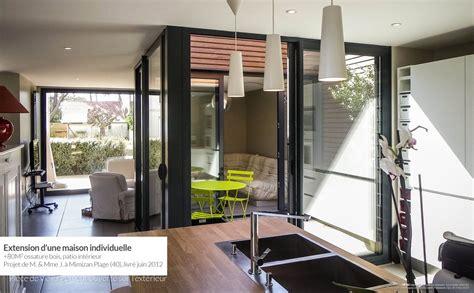 Maison Patio Interieur by Extension Ossature Bois Avec Patio Int 233 Rieur Mimizan Plage