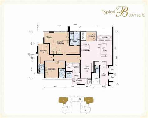 Dua Residency Floor Plan by The Pearl Klcc Properties Kuala Lumpur City