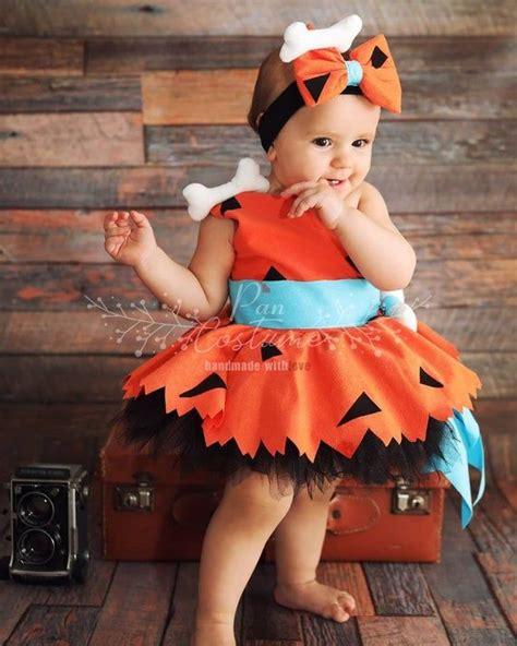 pebbles flintstone outfit  kids baby girl halloween