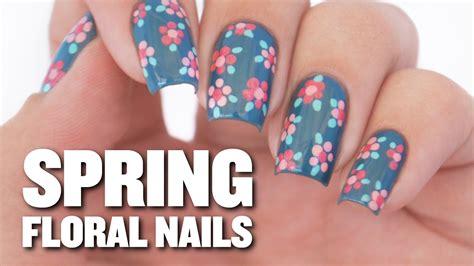 easy floral designs easy floral nail design