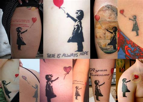girl with balloon tattoo 19 best banksy designs and ideas