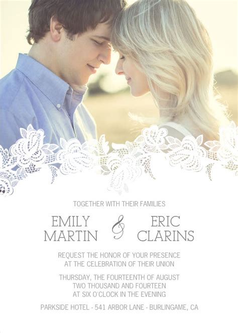 Wedding Invitations With Pictures Of