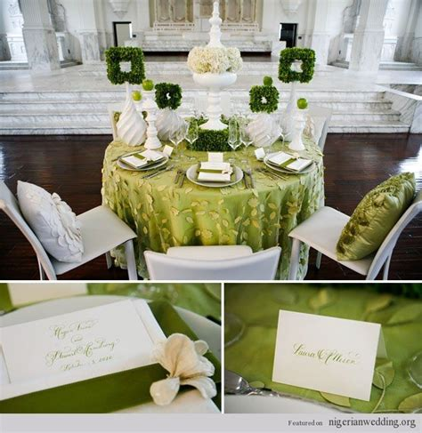 emerald green and gold reception wedding