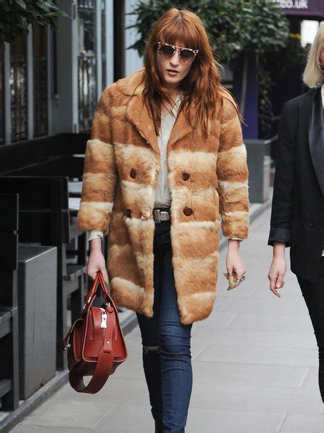 Warmth Week A Coat by Florence Welch Keeps Warm In A Fur Coat Pictures Of The