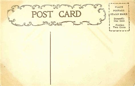 post card template event background antique images free digital background vintage postcard