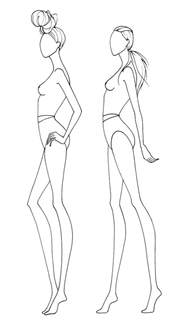 how to draw fashion templates drawing print out tracing templates and showcase your