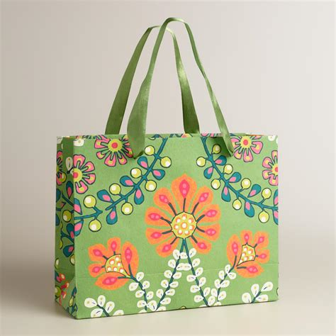 Handmade Craft Bags - large treetop handmade gift bag world market