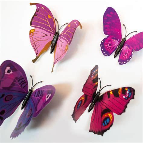 schmetterling 3d violette 3d schmetterlinge als besondere wanddekoration