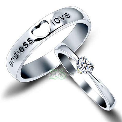 Cincin Nikah Perak Pasangan Tunangan Kawin Aa110 cincin kawin turida zlata silver